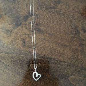 Jewelry - White Gold Diamond Heart Necklace